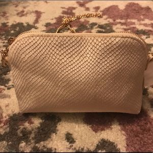 Velvety snakeskin bag